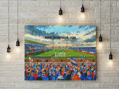 windsor park linfield ,  canvas a3 size